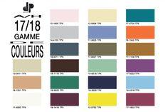Gamme de couleurs pour les tissus de l'Automne-Hiver 2017/18
