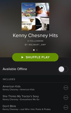 Listen to the full list of our favorite Kenny Chesney hits here: http://open.spotify.com/user/walmart_amp/playlist/0z78u9imbGr7t5ZyNWlfX3