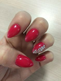 Red • diamonds || Apache Nails