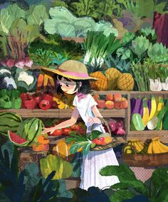 🍀Illustration by 🍀 *************** Art And Illustration, Vegetable Illustration, Storyboard, Concept Art, Art Drawings, Sketches, Instagram, In This Moment, Artwork