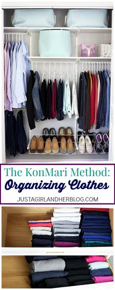 The KonMari Method- Clothes Organization. I want my clothes to be this organized! | JustAGirlAndHerBlog.com