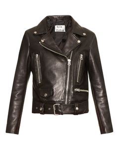 ACNE STUDIOS Mock Leather Biker Jacket. #acnestudios #cloth #jacket