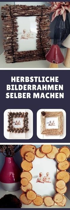 herbstdeko basteln naturmaterialien Make picture frames with natural materials in autumn materials . Cheap Fall Crafts For Kids, Easy Fall Crafts, Diy And Crafts, Make Pictures, Natural Materials, Spice Things Up, Free Food, Picture Frames, Photos