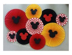 Mickey Mouse Fan Decor Rosette