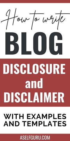 One important aspect of running a blog that you should know about: blog disclosures. Blog disclosures and disclaimers are required by law so you really have to learn about them. In this blog post, I'll be telling you everything you need to know about blog disclosures. Make Money Blogging, Make Money Online, How To Make Money, Business Tips, Online Business, Content Marketing, Internet Marketing, How To Protect Yourself, Blog Writing