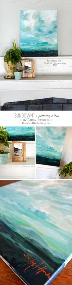 Sundown: Oil Painting-A-Day by Emily Jeffords