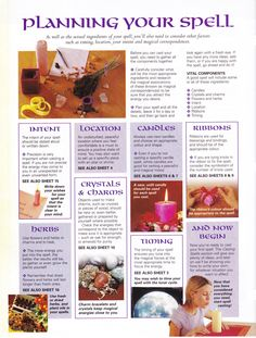 Magick Spells:  #BOS Planning Your #Spell page.