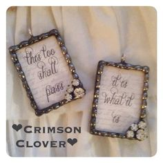 This Too Shall Pass Soldered Charm ONLY by crimsonclover on Etsy  $24
