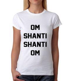 53a7766dc Women's Om Shanti Shanti Om Shirt Printed Meditation Mantra T-Shirt #1052  from $10.99