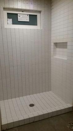 Guest bath tile...coming along!