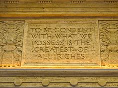 """To be content with what we possess is the greatest of all riches"" from slowlovelife.com"