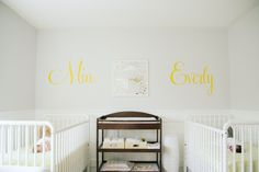 Love this simple design and layout of a twins nursery