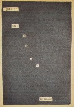 – – – Black Out Poetry: c.b.w. 2015 Source: The Saint Intervenes by Leslie Charteris (1934)