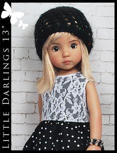 "Black White Outfit for Little Darlings Effner 13"" by Maggie Kate Create"