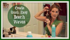 Quick Easy Beach Waves Hair Tutorial
