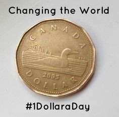 For 365 days, I will donate one dollar a day to Canadian Charities, Causes or People that Need it. We can change the World -- One Dollar a Day Global Village, My Community, One Dollar, Donate To Charity, Cover Pics, Change The World, First World, Day
