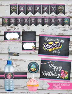SALE Shopkins Birthday Party Pack Shopkins by DebsPrintables