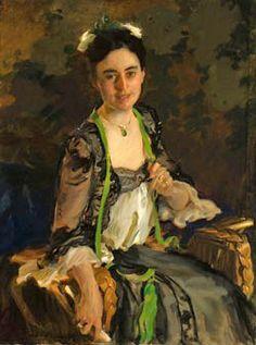Cecilia Beaux (American painter, 1855-1942) Ethel Saltus (Mrs Charles Ludington) 1903
