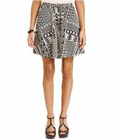 American Rag Printed Skater Skirt - Juniors Skirts - Macy's