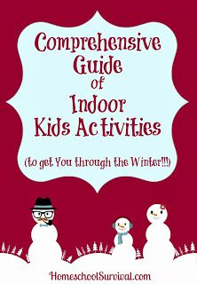 Indoor Kids Activities to Get You Through Winter from @Sarah Robinson (SidetrackedSarah.com)