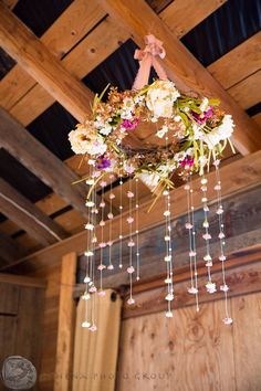Vintage Rustic Chic Style Flower Chandelier Great For Wedding Or Nursery
