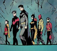 batman queue robin dick grayson Batgirl bruce wayne jason todd barbara gordon Nightwing Damian Wayne tim drake Red Hood Red Robin and nice hellboy thing you got going there jason greg capullo batman 15