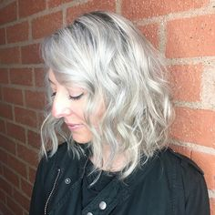 My old friend/client was in town from Chicago & came in for some Cali Hair love! I'm calling this Iced Grey! Used all #schwarzkopf on her. #blondeme #pastels Ice, Steel Blue & a hint of Lilac. Which grabbed more in the front. 🦋 #hairbysarahenglish . . . . #schwarzkopfusa #beverlyhillshairstylist #behindthechair #modernsalon #balayage #greyhair #gray #grayhair #grey #laquenailbar #fckinghair #silverhair