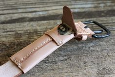 The hidden compartment belt. - Smuggler's Belt in Natural Leather | Barrett Alley - Handmade in USA