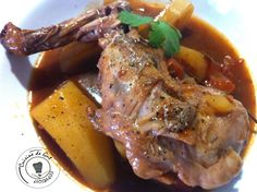 Stifado au lapin Pot Roast, Pork, Cooking, Ethnic Recipes, Orient, Comme, Sauces, Brownies, Biscuits