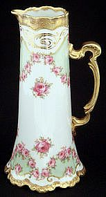 Charming Antique Elite Limoges Pitcher with Roses