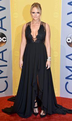 CMA Awards 2016: Best Dresses of the Night - Miranda Lambert in a plunging black dress