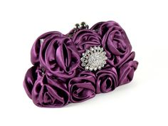 CAMILLE  Purple Evening Bag Bridal by SherriWeeseDesigns on Etsy, $65.00