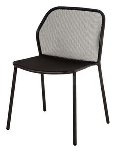 Darwin Stackable chair - Metal Black by Emu - Design furniture and decoration with Made in Design