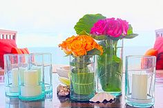 vibrant colours+ wedd at the beach