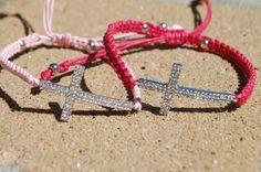 Side Cross  Macrame Bracelet by StringofLove on Etsy, $25.00
