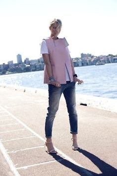 what-do-i-wear:    vest,Phillip Lim 3.1 from MyWardrobe  bag,Alexander Wang from Shopbop  earrings and rings,Estelle Deve  tee and heels, Zara  jeans, Just Jeans  cuff, Sportsgirl(image:zanita)