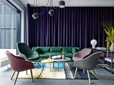 Comwell by HAY, About A Lounge, Hackney sofa, Serve Table, Colour Carpet, Pion Light, New Order