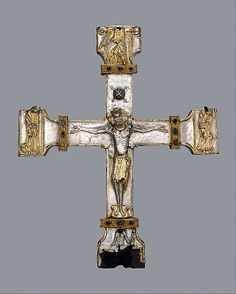 probably my favorite cross… ca. 1150–75  Made in Asturias, Spain   Silver, partially gilt on wood core, carved gems, jewels Dimensions: Overall: 23 1/4 x 19in.  Classification: Metalwork Credit Line: Gift of J. Pierpont Morgan, 1917 Accession Number: 17.190.1406