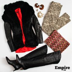 #OOTD as worn by Cookie Lyon (Taraji P. Henson) on s1 ep1 of Empire. A mixture of fur, color, prints and a whole lot of sass!