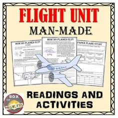 This unit contains multiple readings, activities, and worksheets related to man-made flight.