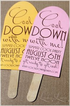 Perfect invitations for a tropical themed Summer Party