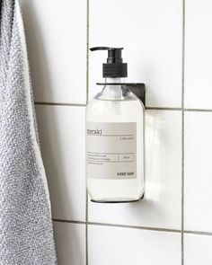 Designstuff offers a wide range of Scandinavian homewares including this minimalist Soap Dispenser Holder in Black. A clever, wall-mountable soap dispenser holder that fits AESOP and ThankYou pump bottles of soap, body wash or hand balm. Boutique Deco, Diy Wand, Bathroom Plants, Liquid Soap, Meraki, Bottle Design, Bathroom Interior, Attic Bathroom, Bathroom Inspiration