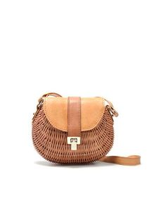 Wicker / leather bag