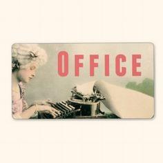Office Moving Storage Box Label Sticker Vintage
