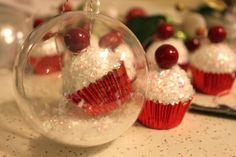 DIY cupcake ornaments!