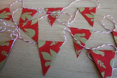 Mini Bunting Holiday Garland Peace Doves by PrinceAndThePapier, $4.50