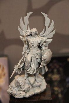 ArtStation - ABEL - Phoenix Chosen (Version B), Hector Moran (HEC) Fantasy Figures, Clay Figures, Anime Figures, Fantasy Art, Action Figures, Character Art, Character Design, Zbrush, Modelos 3d