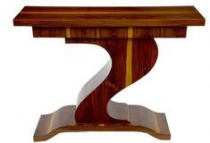 Z Shape Art Deco Rosewood Console Table Interior Design Furniture