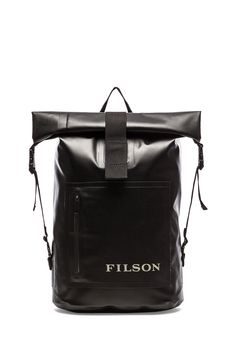 Filson Dry Day Backpack in Black - Marketed for men, but whatever works -