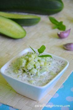 Jogurtowa sałatka z ogórków (Laban bikhyar) Feta, Potato Salad, Potatoes, Cheese, Ethnic Recipes, Potato